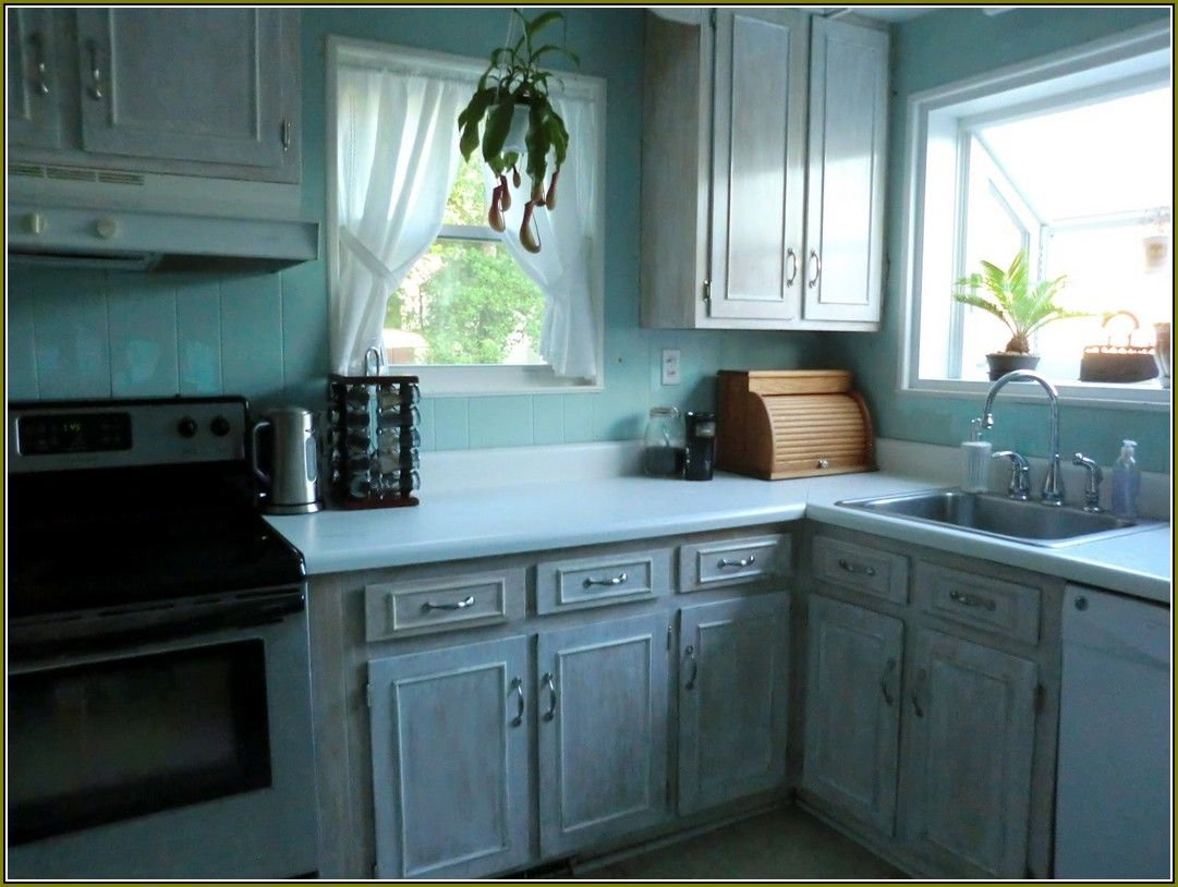 washed oak kitchen cabinets plan white wash distressed pinterest ...