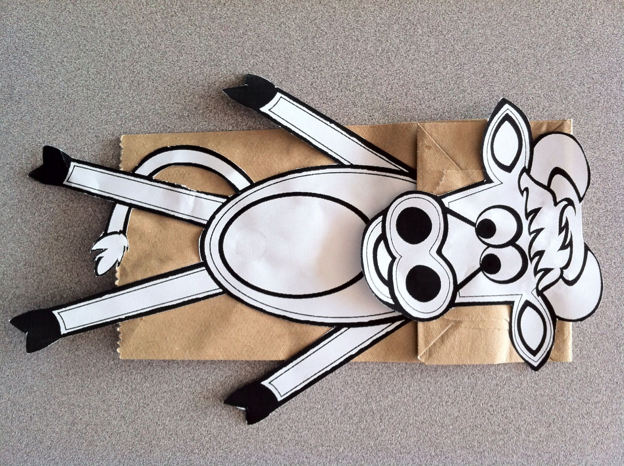 Paper Bag Cow Puppet
