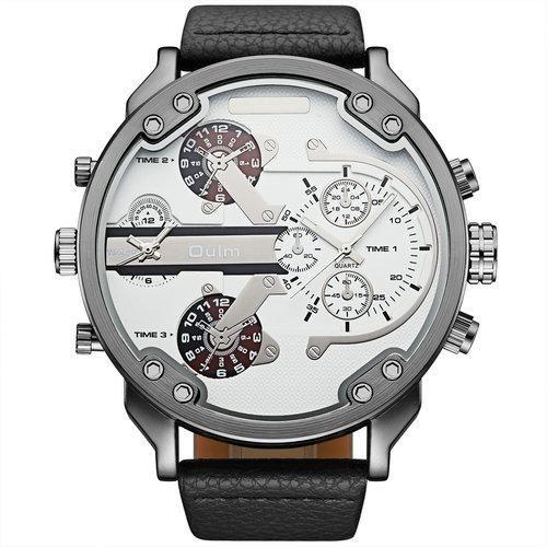 90074dd1dbb OULM Casual Military Quartz Watch Men 2 Time Zone Fashion Marine Canvas  Strap Chic Boyfriend DZ Wrist Watches Relogio Masculino