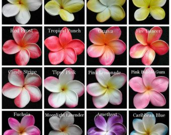Plumeria Frangipani Hair Clip Pin Real Touch Destination Wedding Plumeria Flowers Plumeria Tropical Flowers
