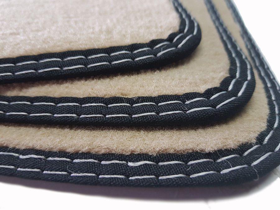 X3 Fußmatten für BMW F25 Original Qualität Velours Doppelnaht 4 Klett Automatten