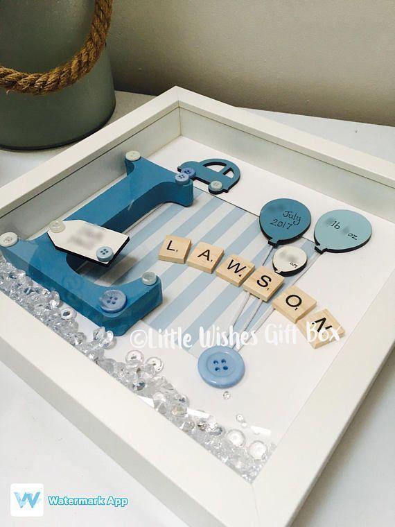 Baby Boy Geburt / Kind Initial Box Rahmen New Baby Nursery - #baby #Box #Boy #Geburt #Initial #Kind #Nursery #Rahmen #babynamesboy