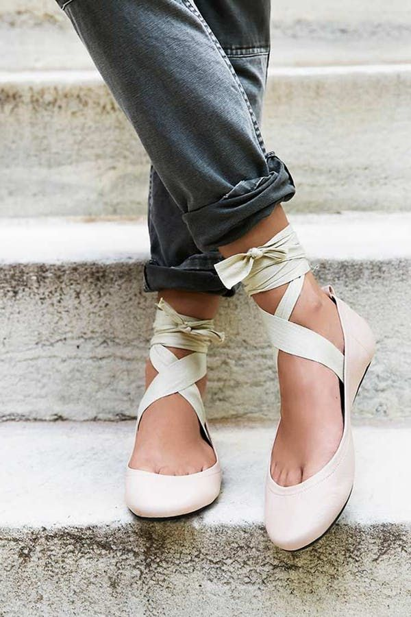 c3e0b024b 10 Pairs of Summer Shoes Under $100 via @PureWow - FREE PEOPLE BALLET FLATS  (=)