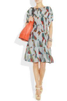 Love this summer print dress by Tucker and Stella McCartney orange bag