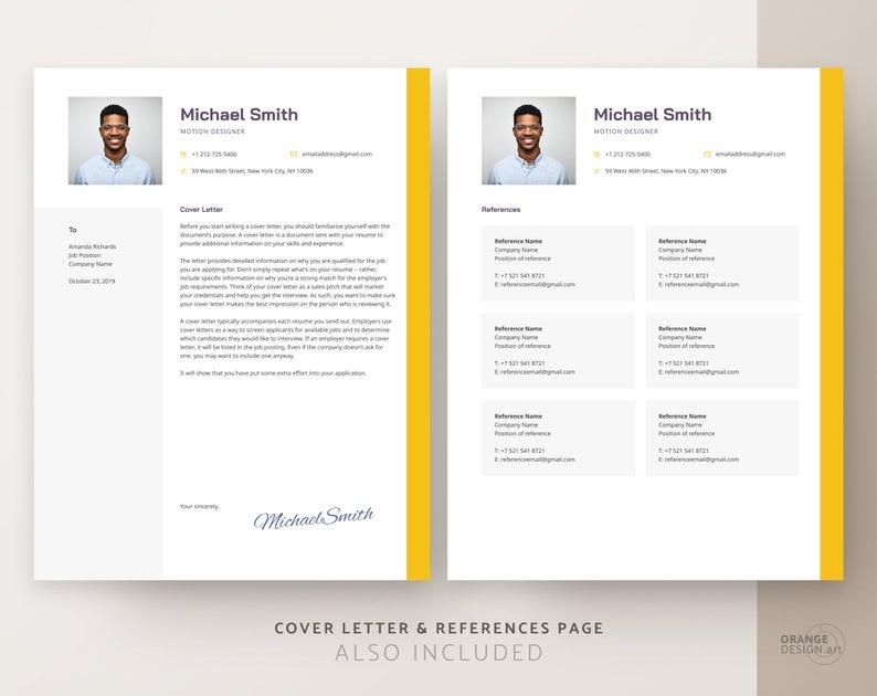 Designer CV template for word software engineer resume