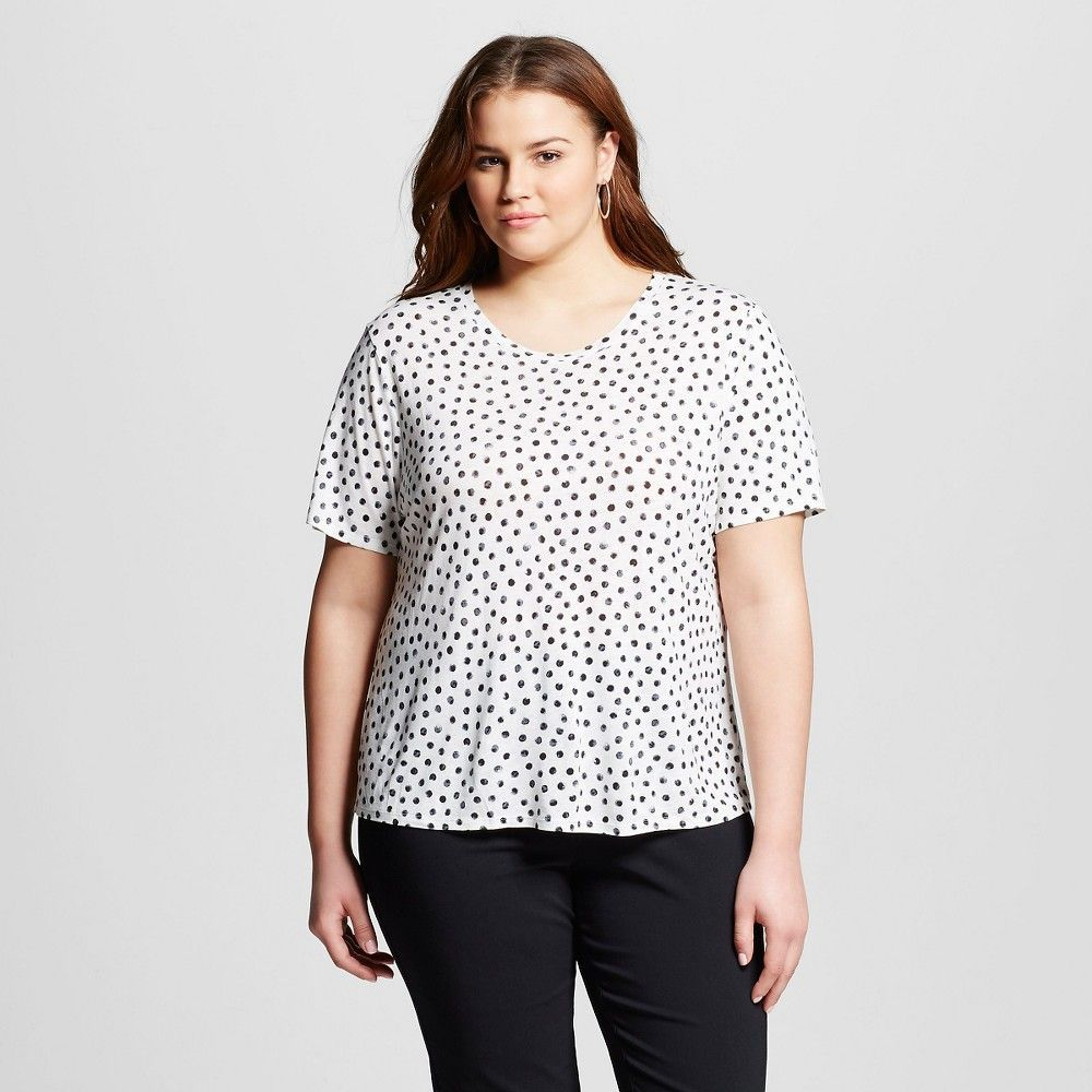 Women's Plus Size All Over Printed T-Shirt