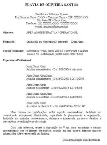 curriculum-vitae-simples-pronto-para-imprimir-dica | alekysia ...