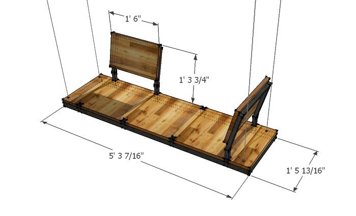 Modular Porch Swing Dimensions Swinglab Arts And Crafts