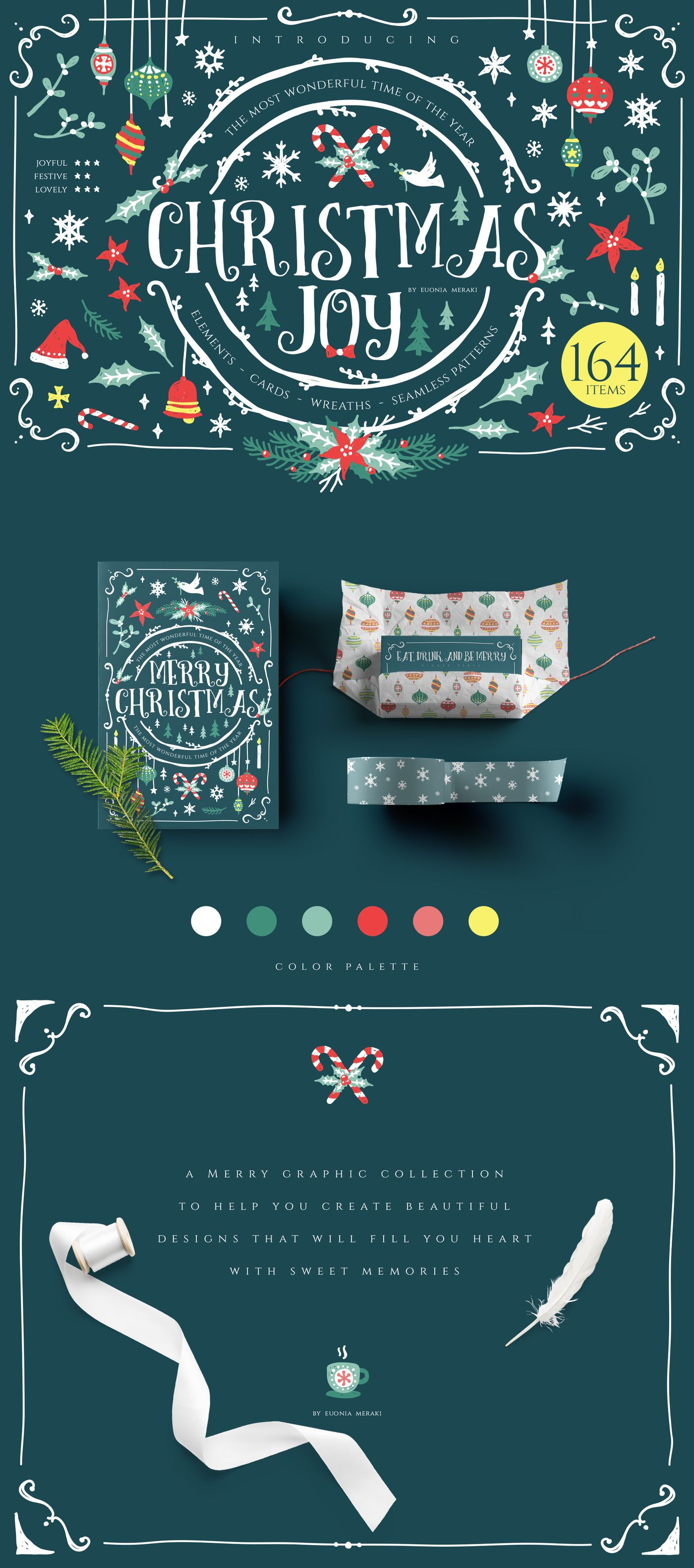 92fb6ef4a20a9 30%OFF Christmas Joy Graphic Pack by Euonia Meraki on  creativemarket  Warmest hugs for you all lovely people! ♥ Be prepared to celebrate the most  wonderful ...
