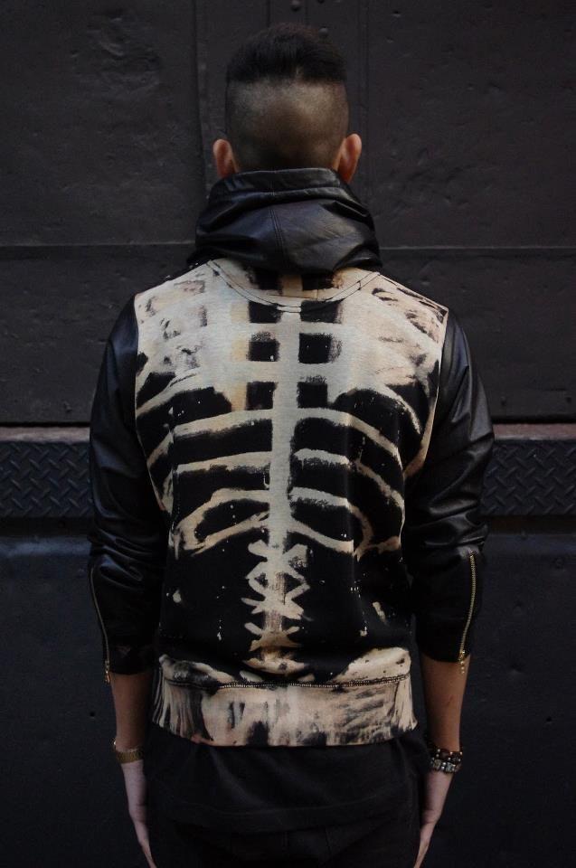 mens fashion skeleton jacket jetzt neu der blog f r den. Black Bedroom Furniture Sets. Home Design Ideas