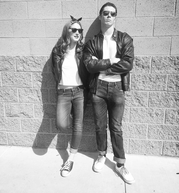 Black sunglasses, white shirts, leather jackets, fitted