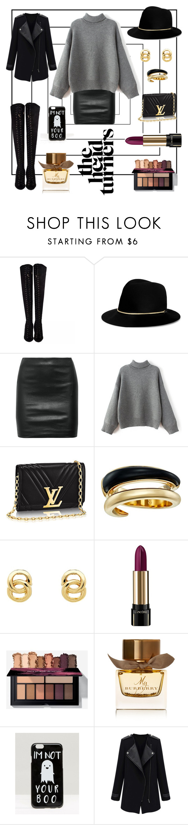 """""""did i"""" by laluna7 ❤ liked on Polyvore featuring Janessa Leone, The Row, Michael Kors, Monet, Lancôme, Burberry and ASOS"""
