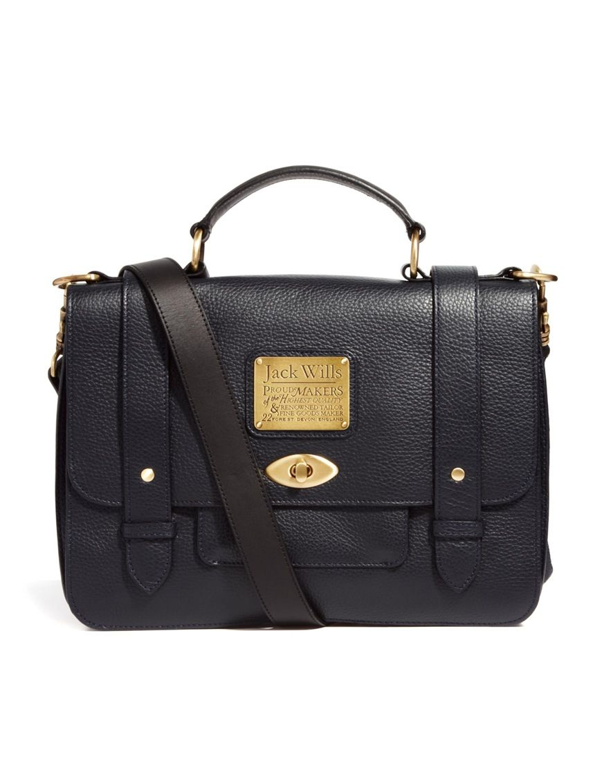 Image 1 Of Jack Wills Leather Satchel Bags Outfit