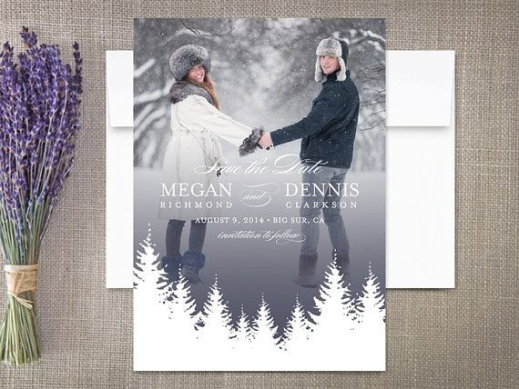 winter save the date cards rustic wedding winter weddings and