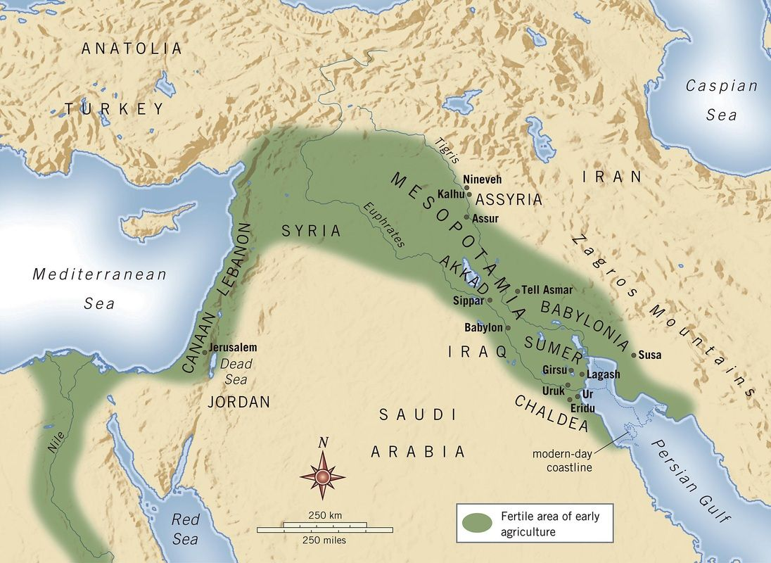 Mesopotamia Map For 6th Grade