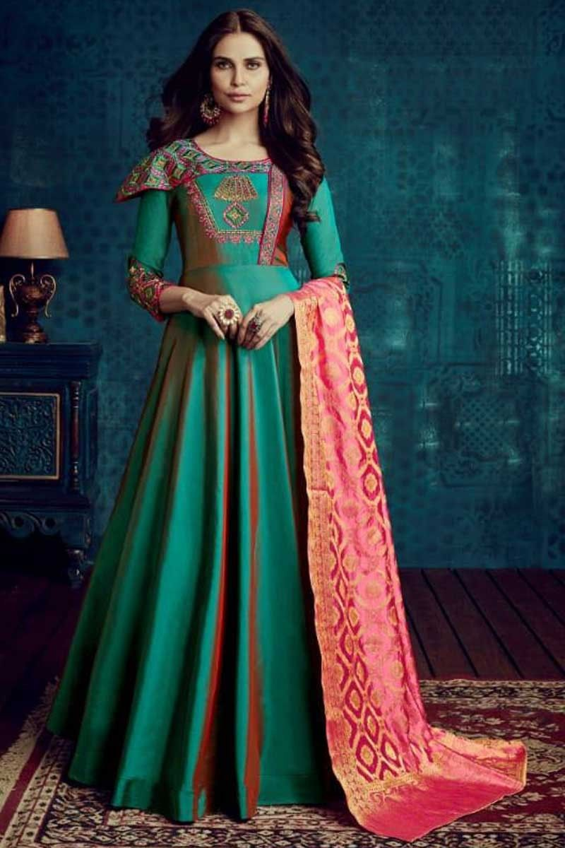 73d1f43e2bb  cocktails  party wear  designer  ethnic  anarkali  style  gown perfect for   indianwedding from  Hakoba