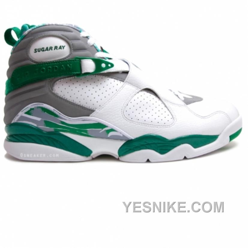 the latest 2a282 ba4c8 ... release date air jordan 8 ray allen boston celtics home pe white green  only 78.00 free