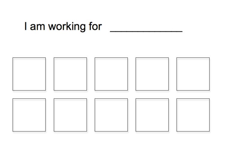image about Token Board Printable identified as Absolutely free Straightforward 10 Token Board Token Forums Printable gain