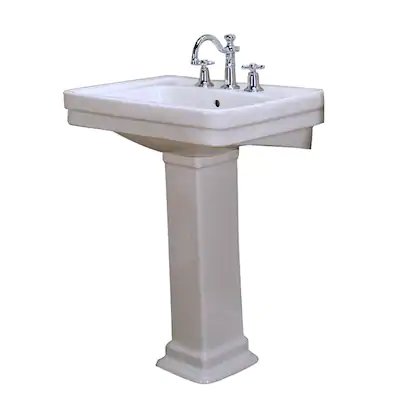 Barclay Sussex 550 34 5 In H White Vitreous China Pedestal Sink