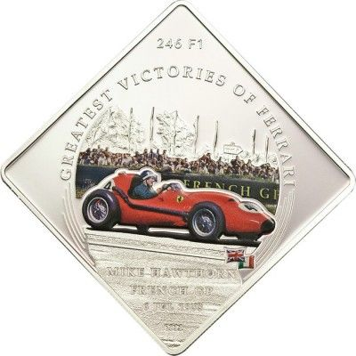 1 Dollar CuNi Ferrari - Die größten Erfolge: Mike Hawthorn PL