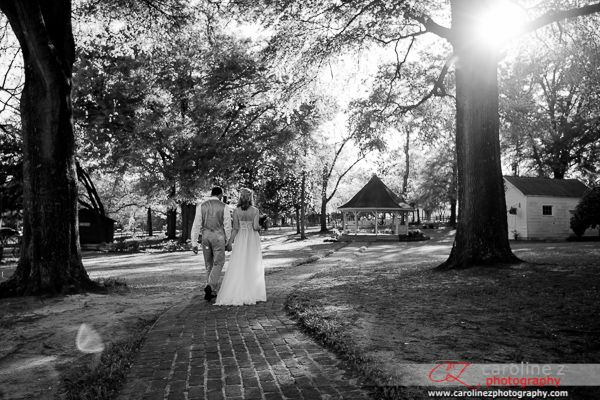Genie and Joseph's awesome #wedding at Poplar Grove Plantation in Wilmington, NC. To see more go to www.carolinezphotography.com #rustic #barn #DIY #chick #bride #groom