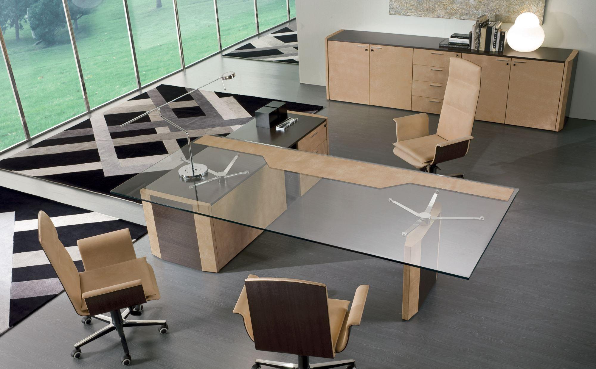 Escritorios Modernos De Madera Y Vidrio Buscar Con Google Office Furniture Design Office Design Office Furniture