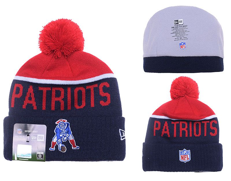 ddb1d47197f ... knit hat with pom 7c96a 9c881  inexpensive mens womens new england  patriots new era navy 2016 on field classic throwback logo sport