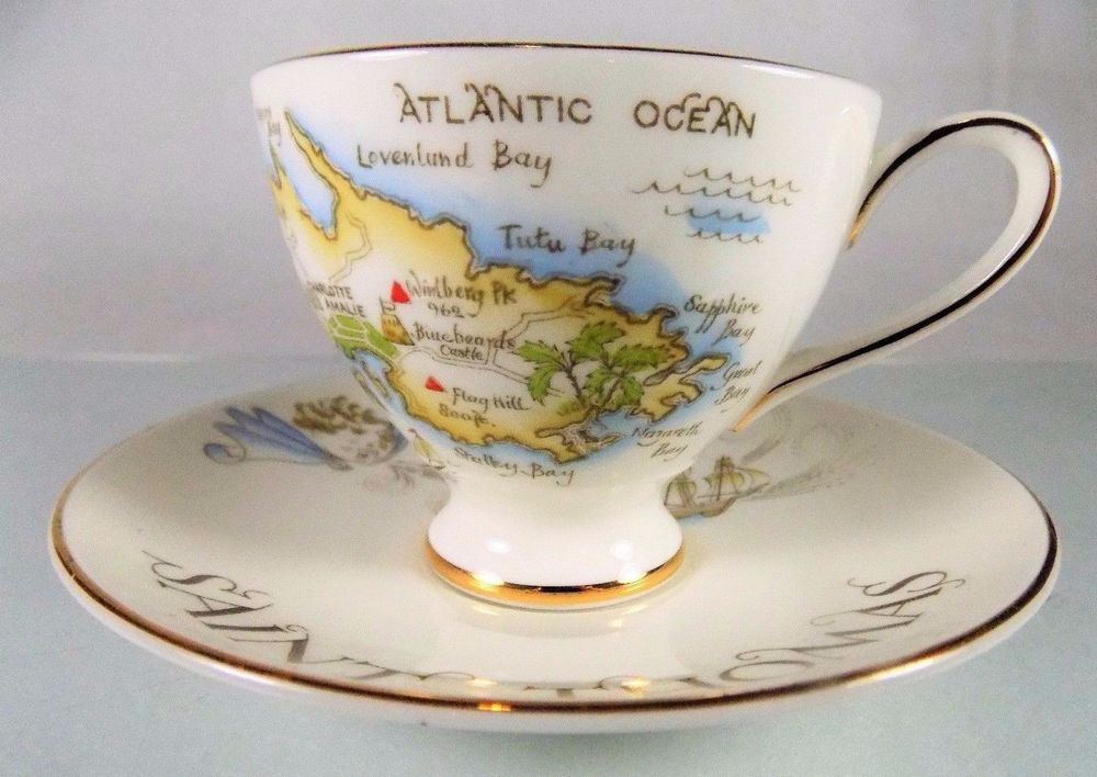 St Thomas Map Virgin Islands%0A  RoyalTuscan Royal Tuscan Wedgwood Group St  Thomas Virgin Islands white   tea cup