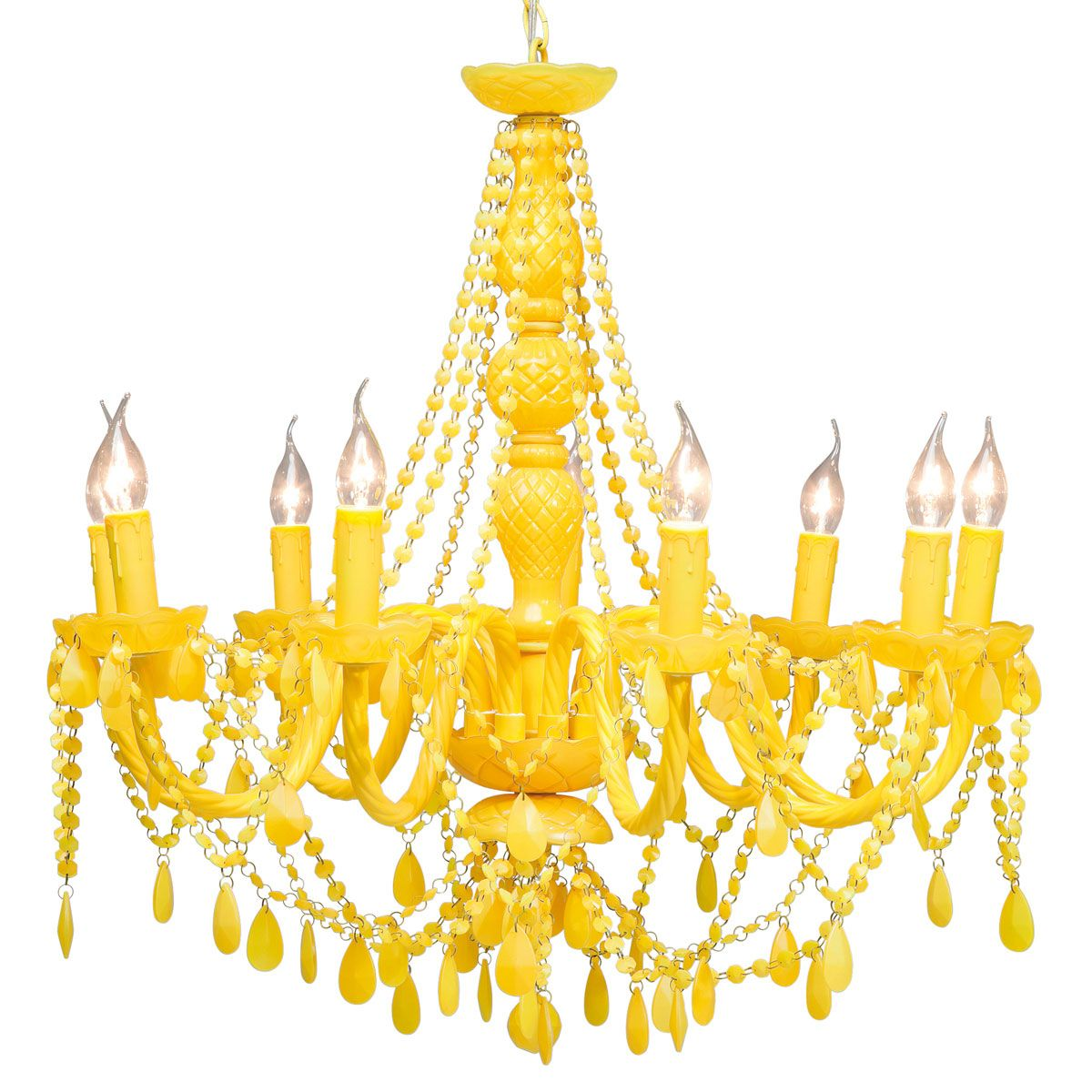 Pop Yellow Chandelier By The French Bedroom Company Yellow Decor