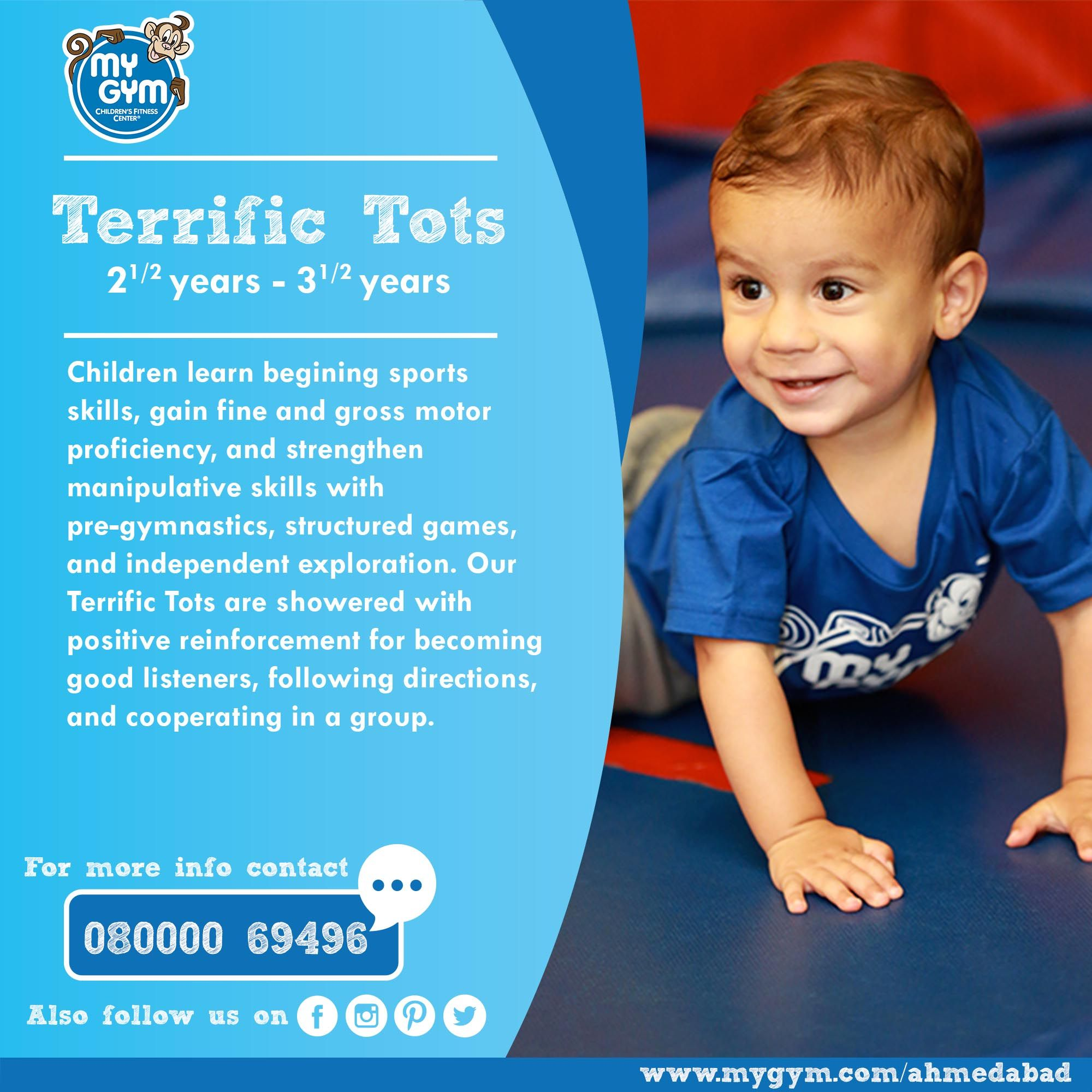 Enthusiastic and wonderful our Terrific Tots program is one of a kind! Visit our Website: http://www.mygym.com/ahmedabad #MyGym #MyGymFun #TerrificTots #MyGymAhmedabad #ComingSoon #Physical #Social #Cognitive #Emotional #Development #InteractiveSkill #Tumbling #Agility #Songs #Dance #PuppetShows #Swings #Adventure #ALotMoreToCome #Christmas #Ahmedabad #Gujarat