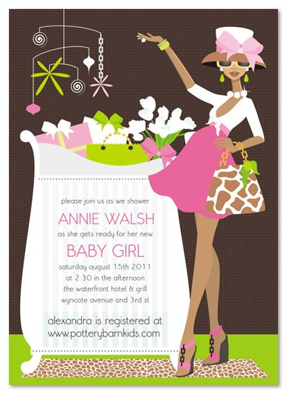 african american diva clip art | baby shower girl african american, Baby shower invitations