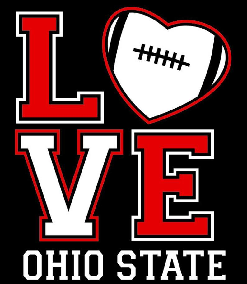 LOVE Ohio State 2 Color Vector Files