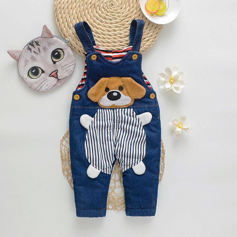 Toddler Baby Boy Cartoon Bib Pants Overalls Stripe Shirt Top Dinosaur Suspender Outfits Set