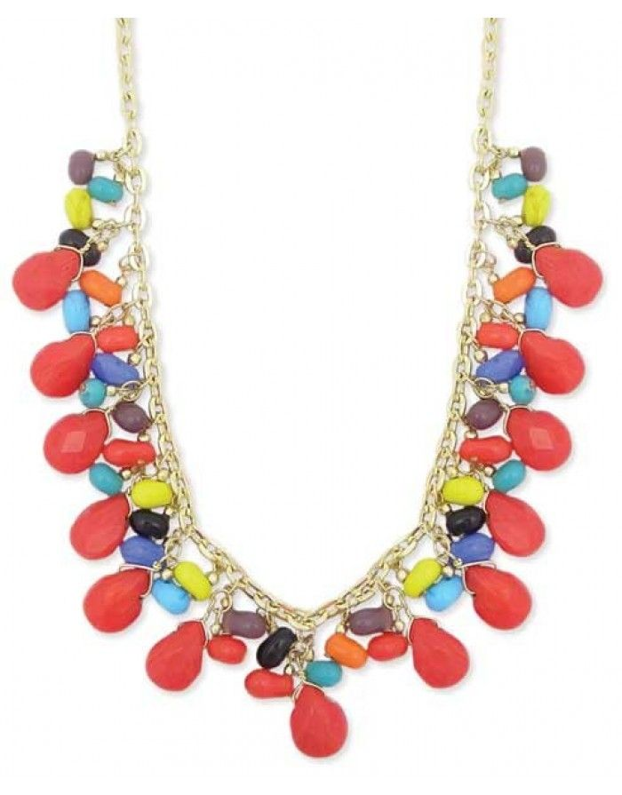 Summer Bead Drops Necklace