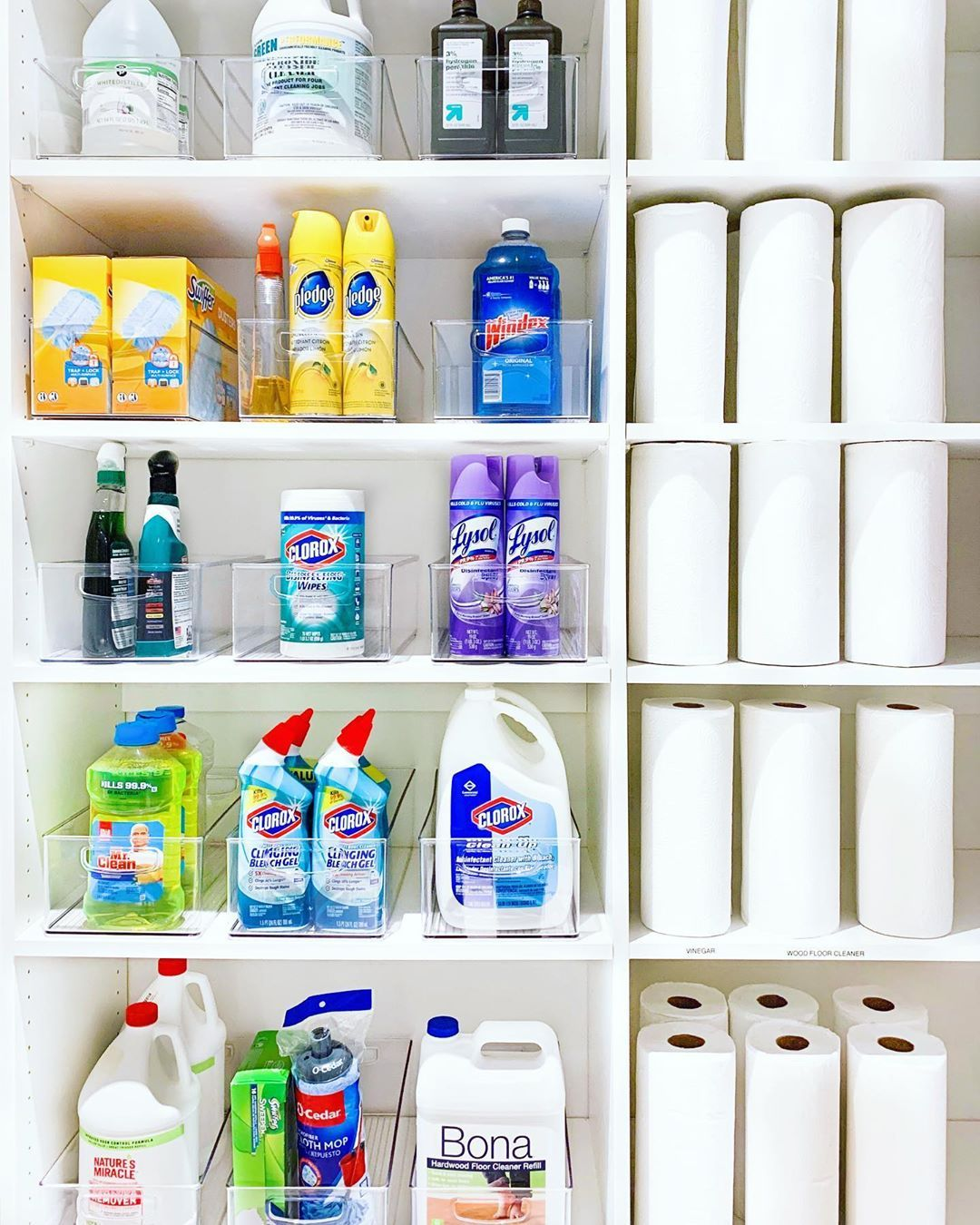 The Home Edit On Instagram We Ve Always Loved Organizing Cleaning Products But Now We Re Like How Much D The Home Edit Cleaning Closet Cleaning Cupboard