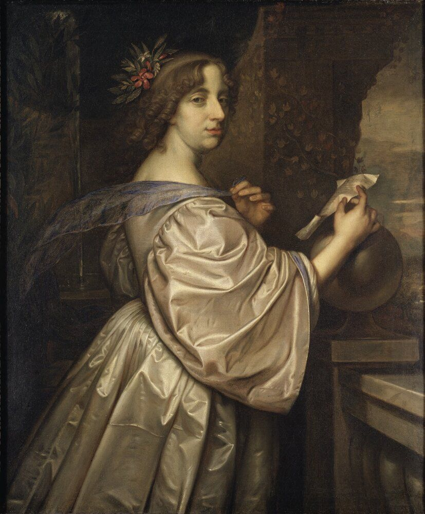 Queen Christina Of Sweden 1626 1689 Schilderij Kunst Delft