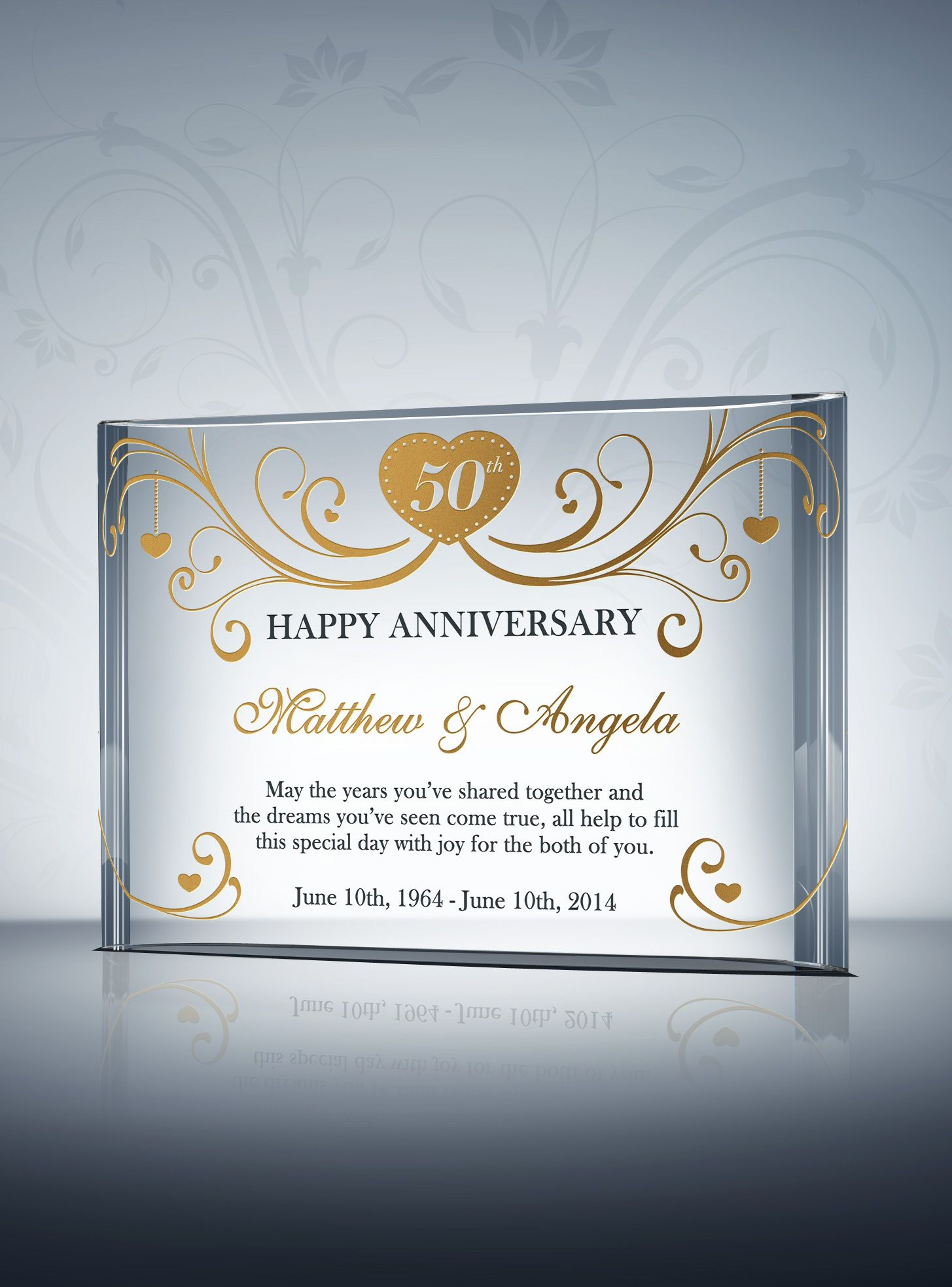 Th golden wedding anniversary gifts anniversaries pinterest