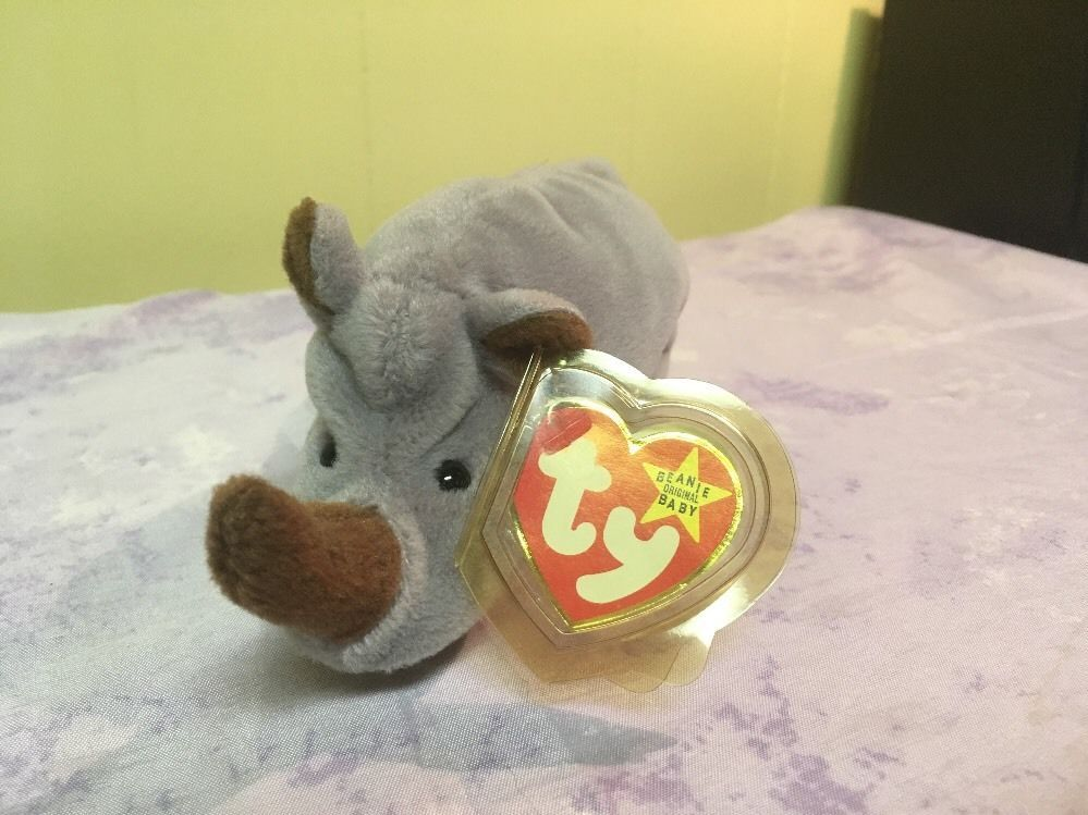 2cbdfb2bdb3 Ty Original Beanie Babies Retired Spike the Rhinoceros Style  4060 8-13-96  MWMT  Ty
