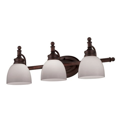 Shop portfolio oil rubbed bronze bathroom vanity light at lowes canada find our selection of bathroom vanity lighting at the lowest price guaranteed with