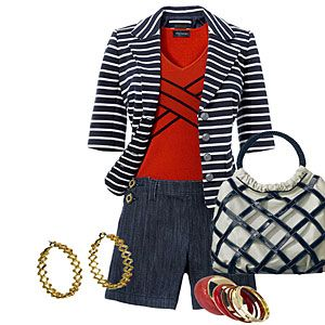 Sail in nautical fashion | Pair side-buttoned shorts with a jacket | AllYou.com