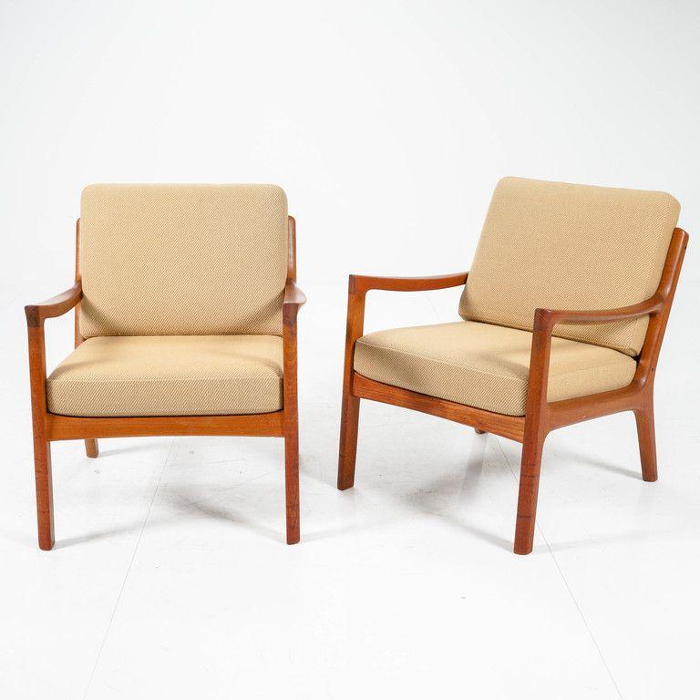 OLE WANSCHER, armchairs, Senaattori, FRANCE & SON, teak
