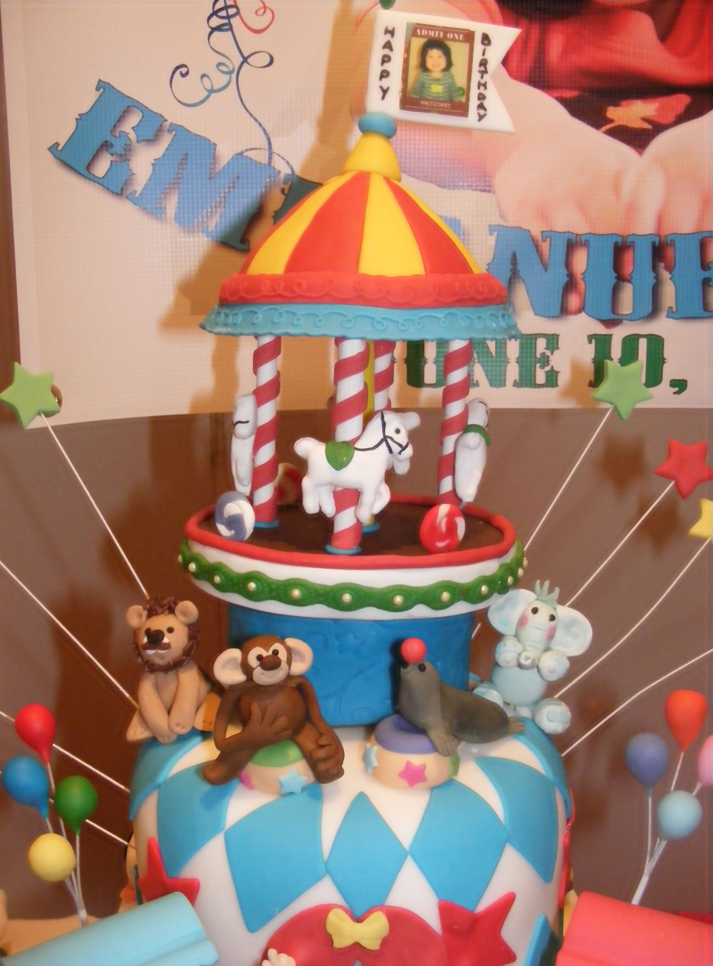 Edible animals and carousel with images carnival