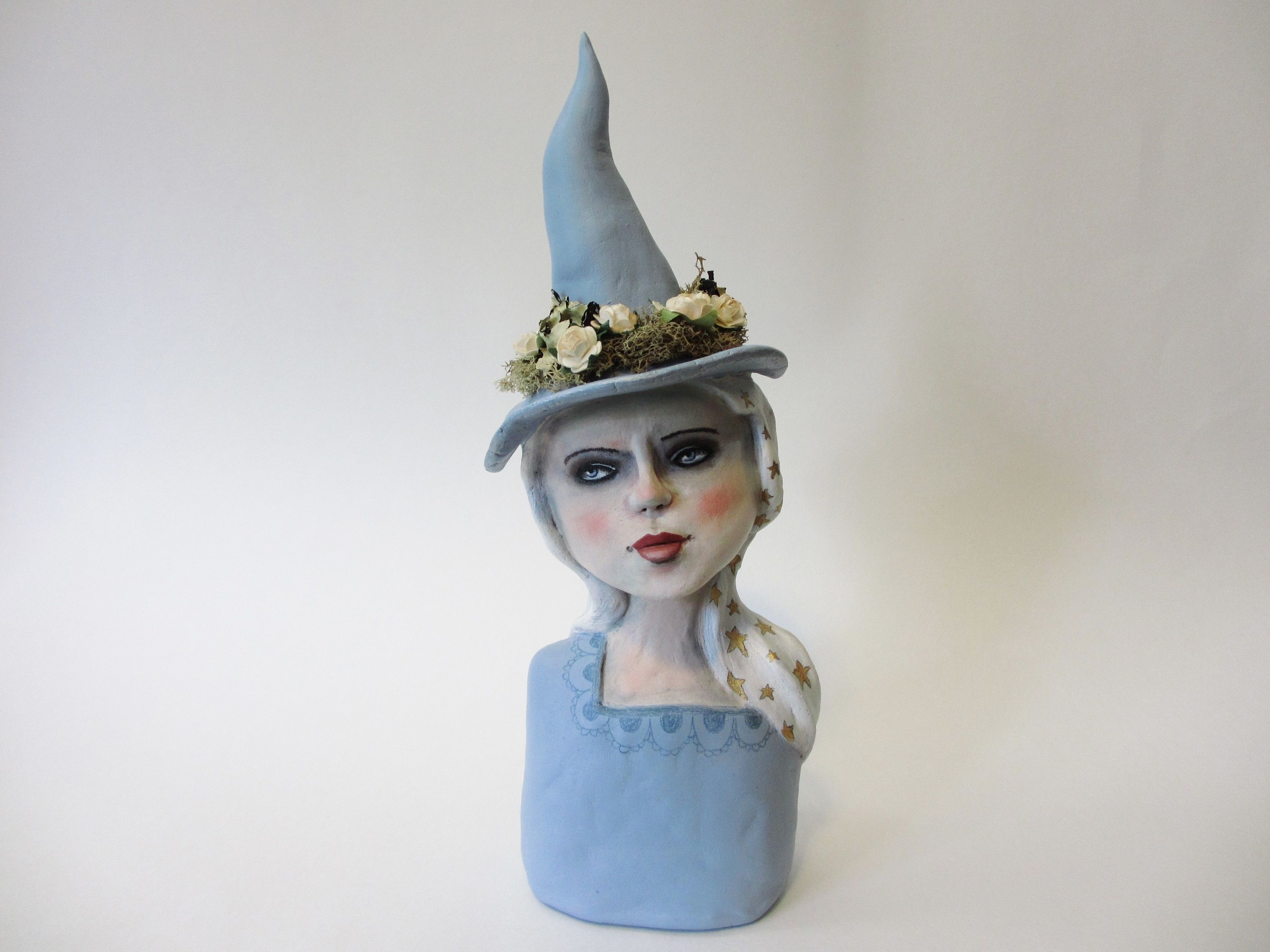 The Winter Witch... Art Doll Sculpture by Amber Leilani | amber ...