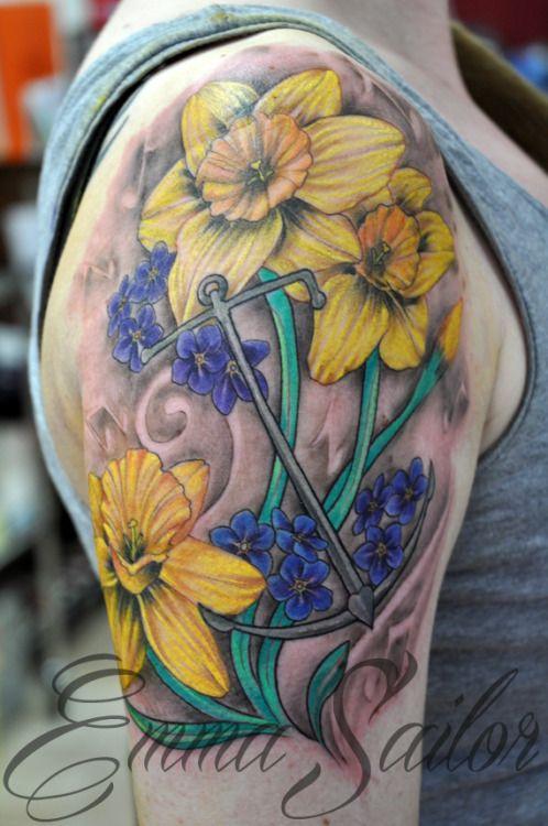 Daffodil Tattoo Watercolor - Best Tattoo Ideas