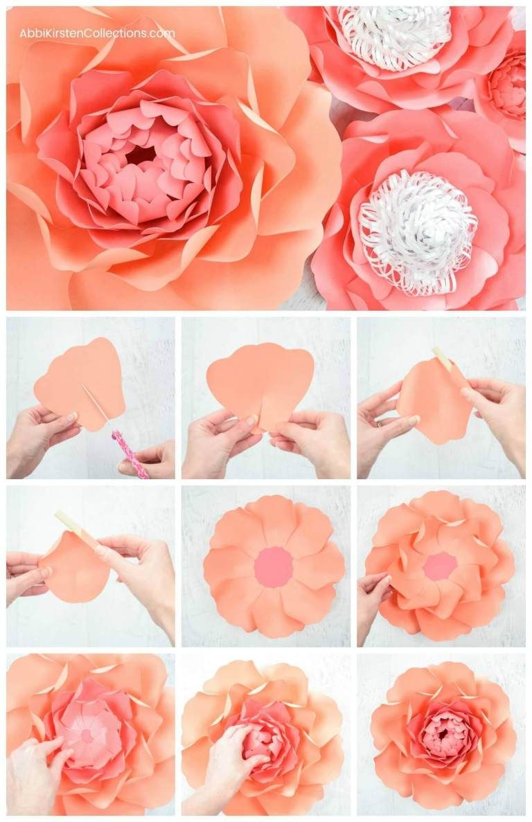 How To Make Large Paper Peonies Templates And Tutorial Paper