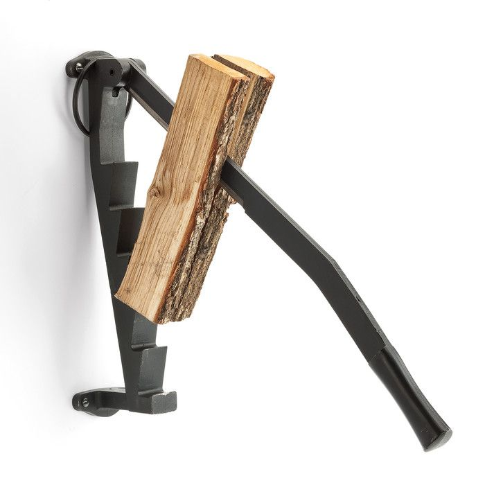 A true 'man' tool! Splitting wood to warm your chalet.  A true conversation piece!