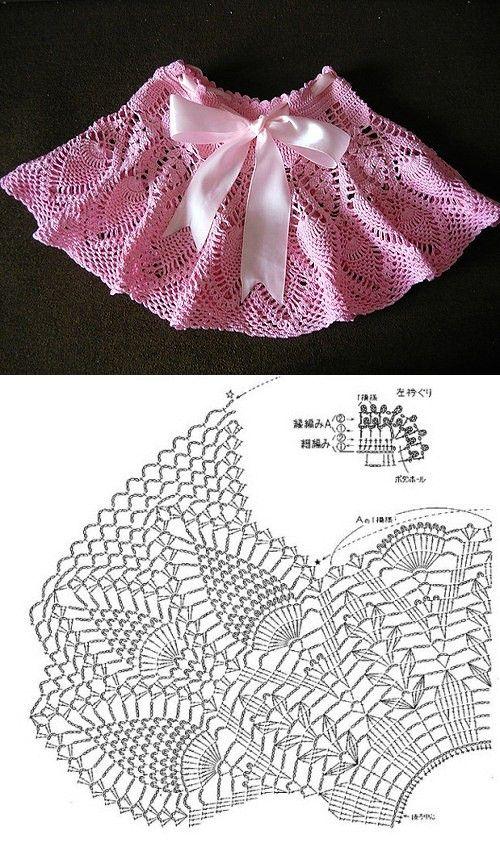 häkel mädchen rock - crochet girl | Häkelkleidung Kind & Baby ...