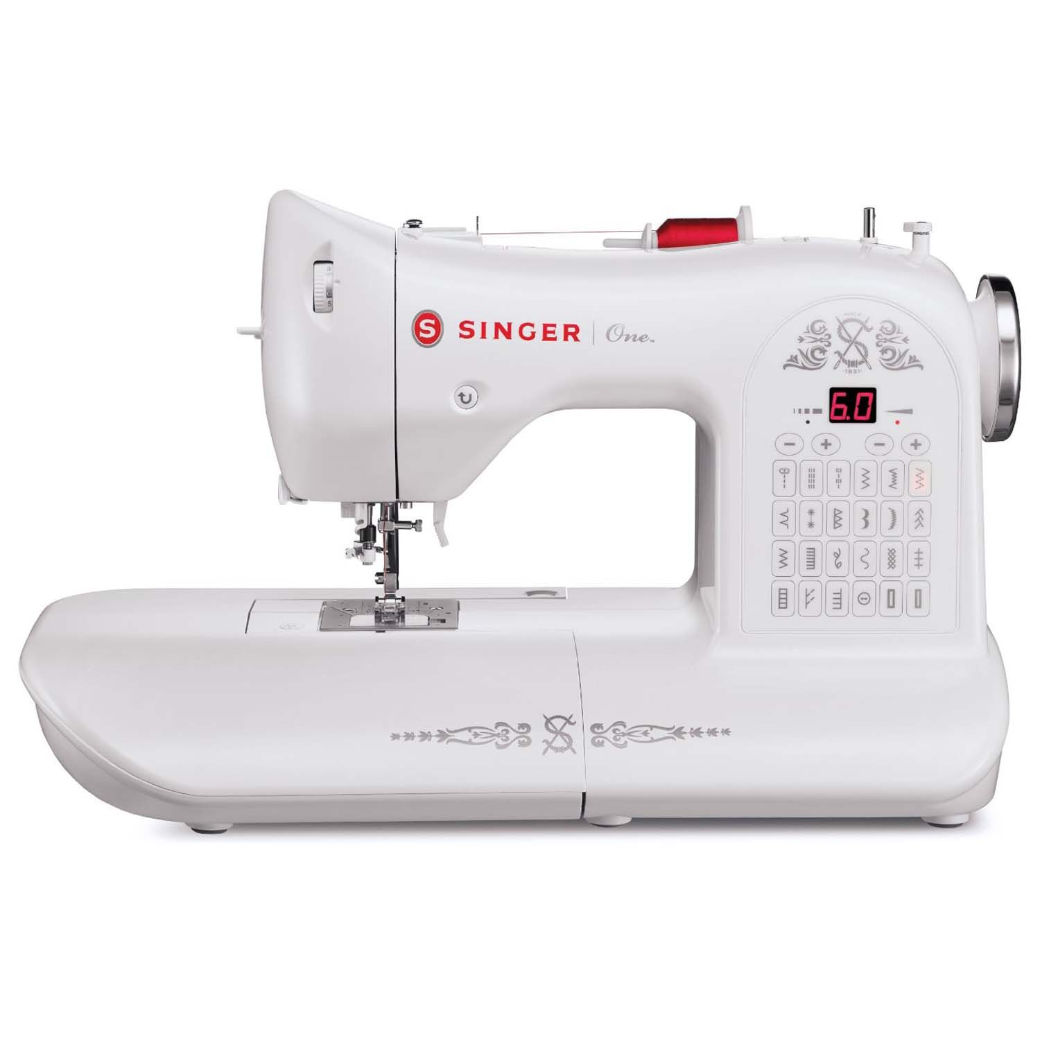 Singer One Sewing Machine - Retro styled sewing machine with a bit ...