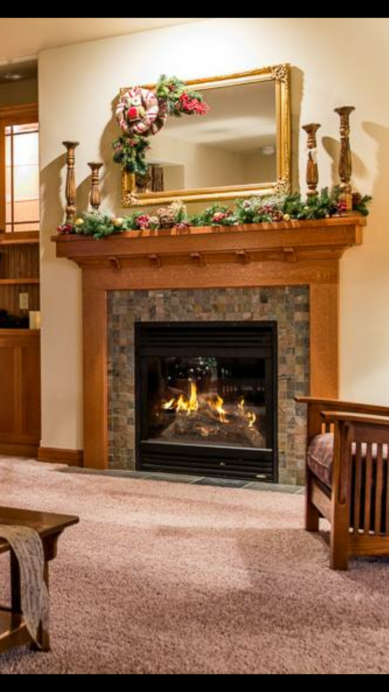 rocks valor brushed rock nickel inner decorative series fireplaces products bezel fireplace