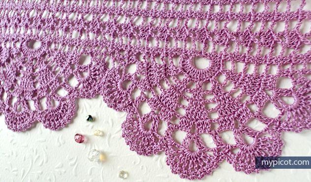 Free crochet edging pattern: Wide Economy Lace #58 | crocheted trim ...